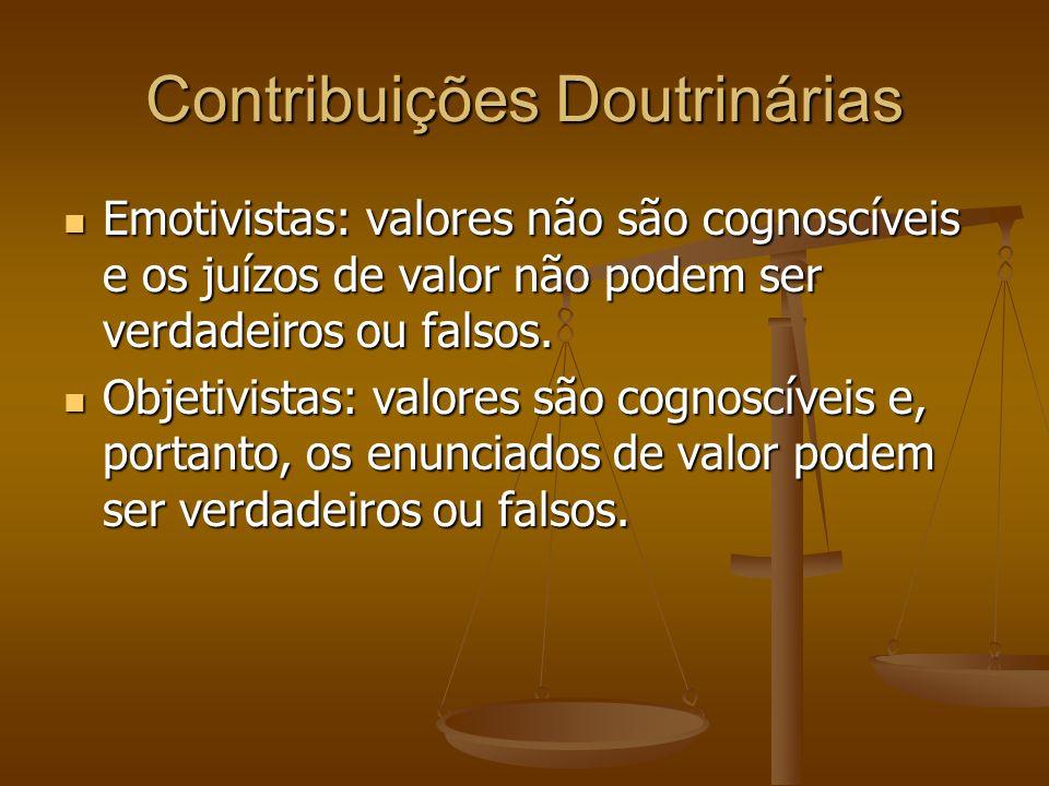 Contribuições Doutrinárias