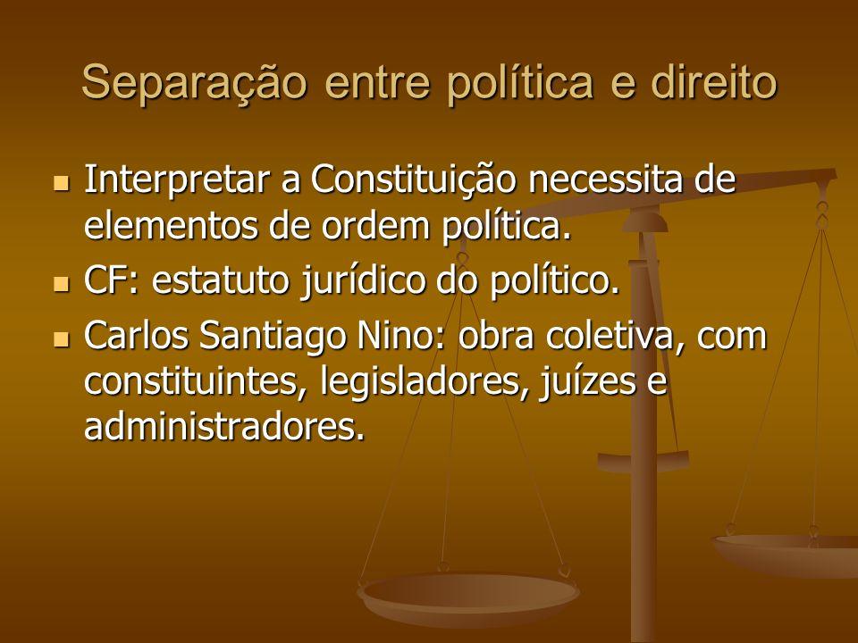 Separação entre política e direito