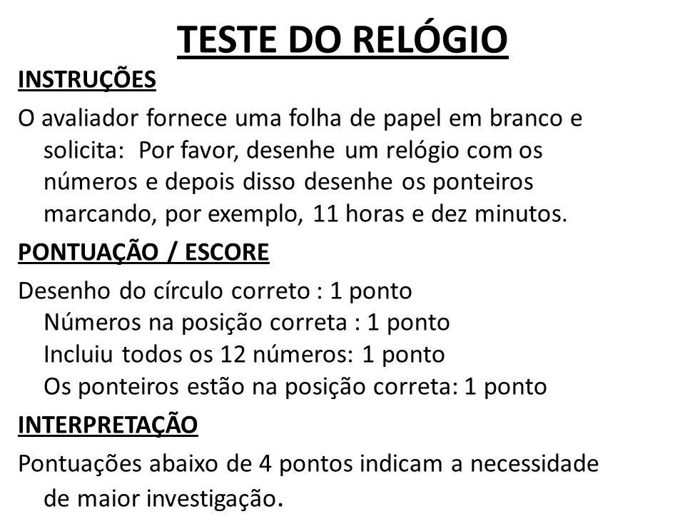 TESTE DO RELÓGIO