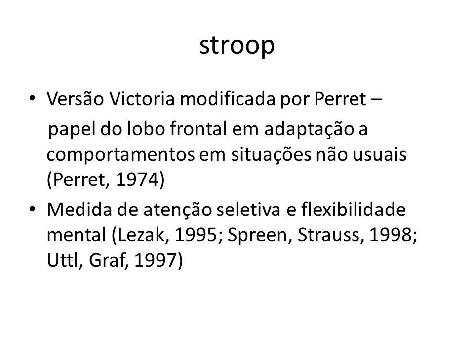stroop Versão Victoria modificada por Perret –