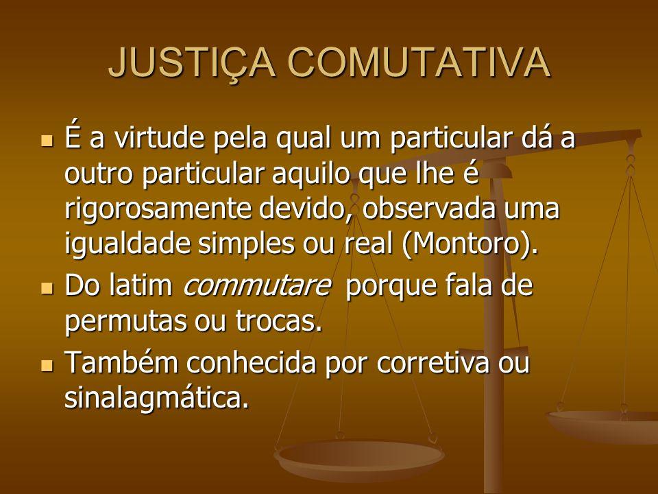 JUSTIÇA COMUTATIVA