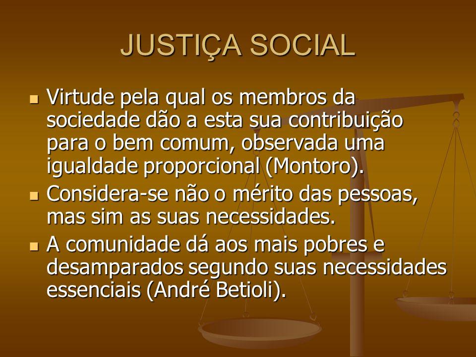 JUSTIÇA SOCIAL