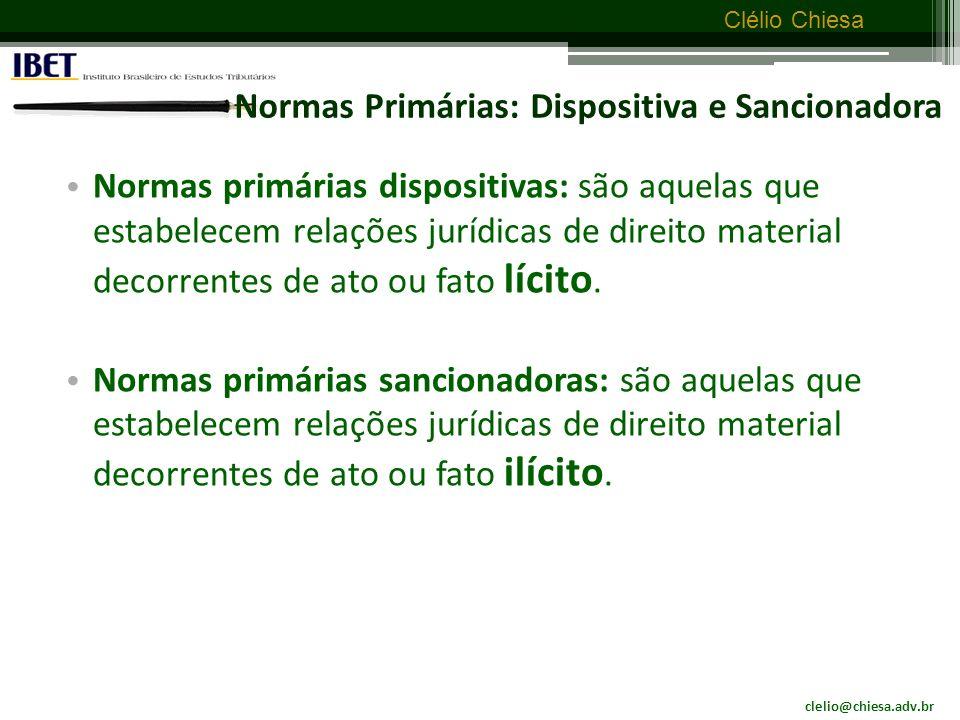 Normas Primárias: Dispositiva e Sancionadora