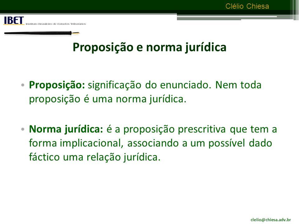 Proposição e norma jurídica