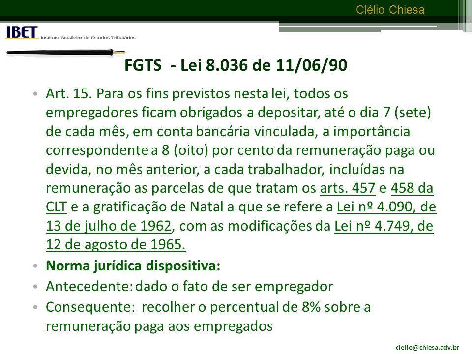 FGTS - Lei 8.036 de 11/06/90