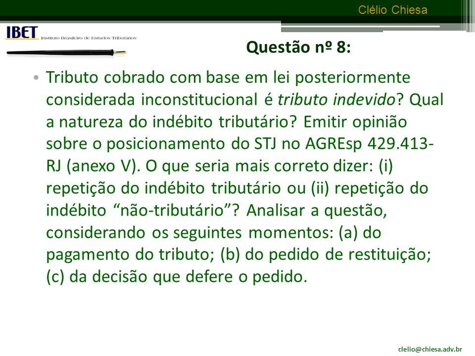 Questão nº 8: