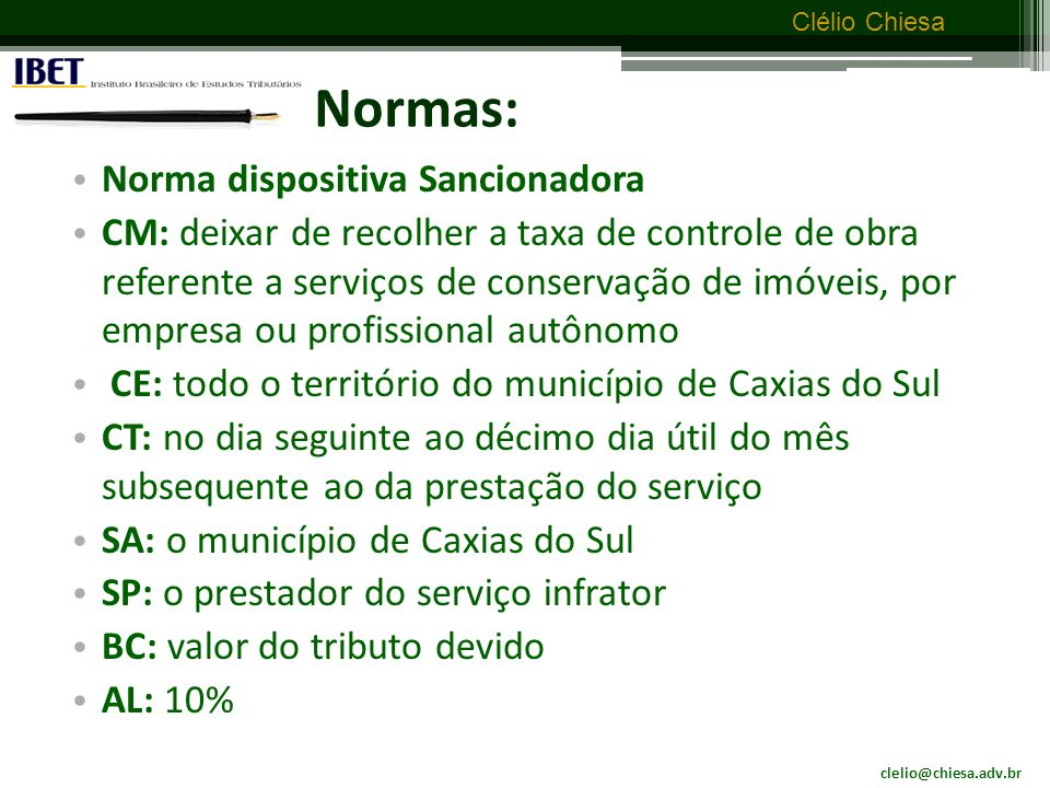Normas: Norma dispositiva Sancionadora