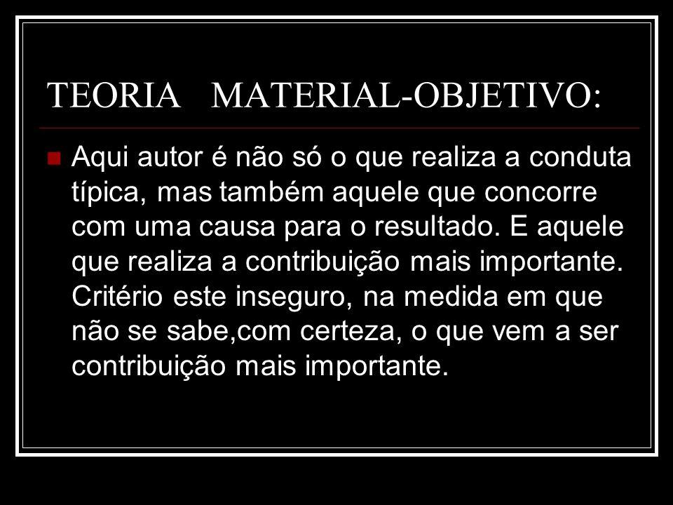 TEORIA MATERIAL-OBJETIVO: