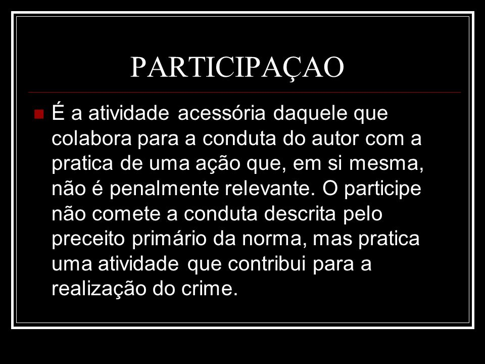 PARTICIPAÇAO