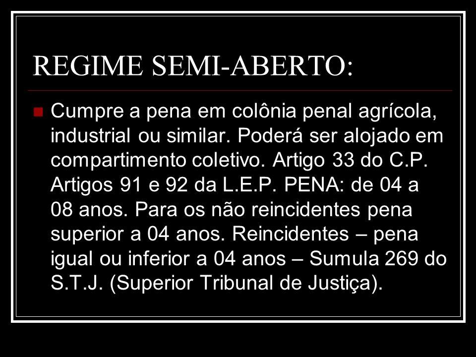 REGIME SEMI-ABERTO: