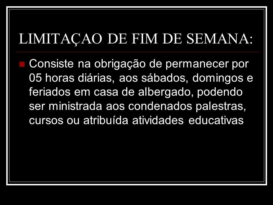 LIMITAÇAO DE FIM DE SEMANA: