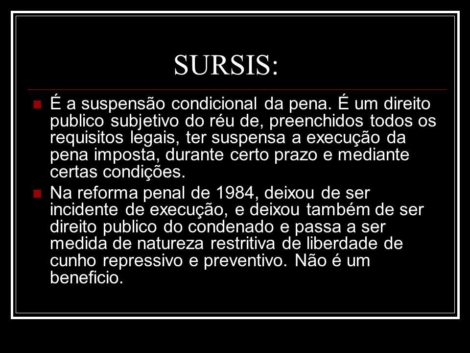 SURSIS: