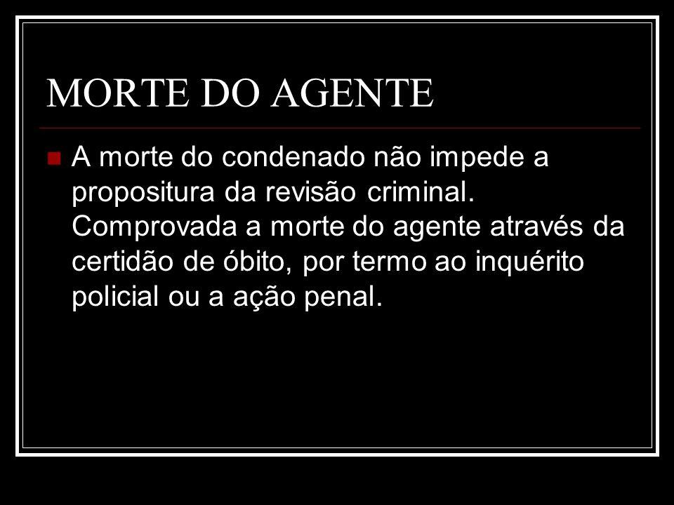MORTE DO AGENTE