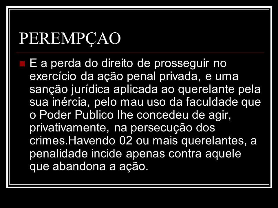 PEREMPÇAO