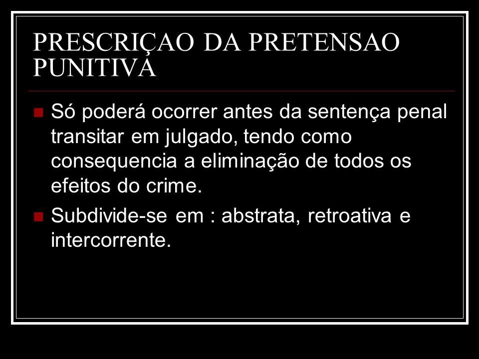 PRESCRIÇAO DA PRETENSAO PUNITIVA