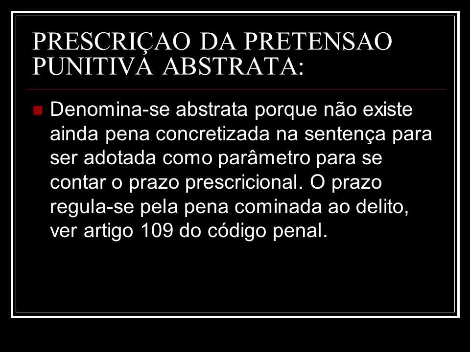 PRESCRIÇAO DA PRETENSAO PUNITIVA ABSTRATA: