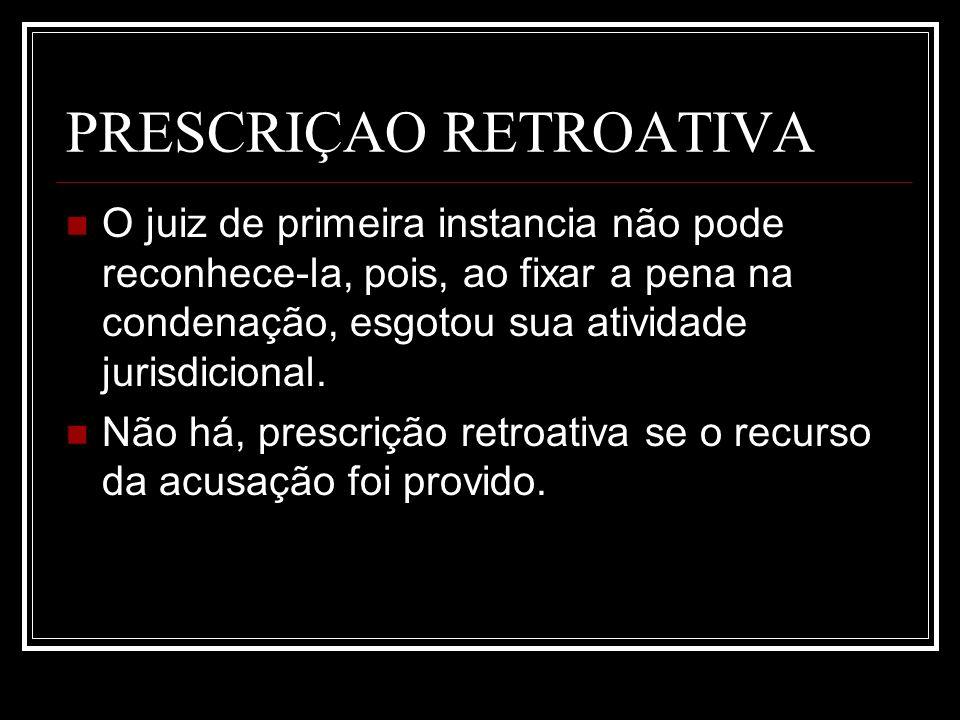 PRESCRIÇAO RETROATIVA