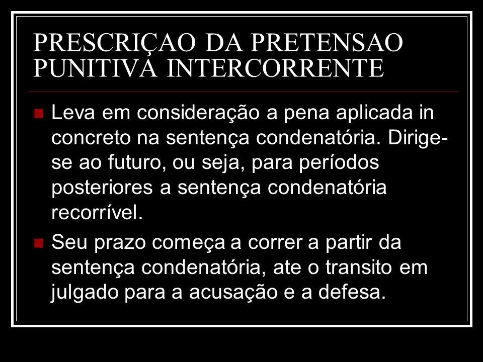 PRESCRIÇAO DA PRETENSAO PUNITIVA INTERCORRENTE