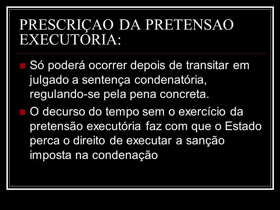 PRESCRIÇAO DA PRETENSAO EXECUTORIA: