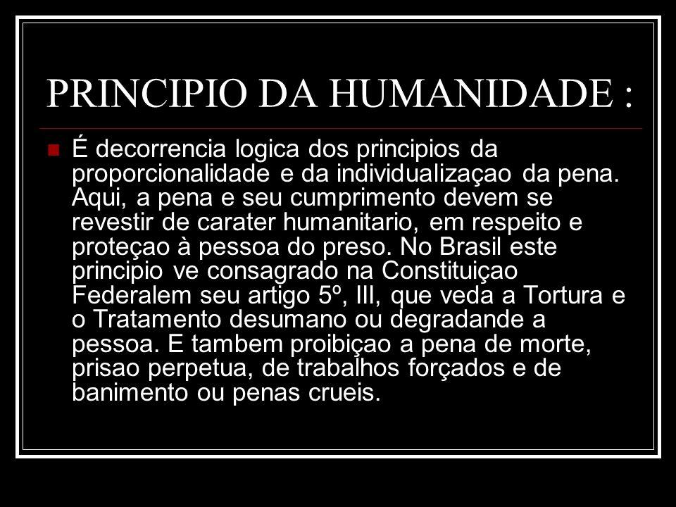 PRINCIPIO DA HUMANIDADE :