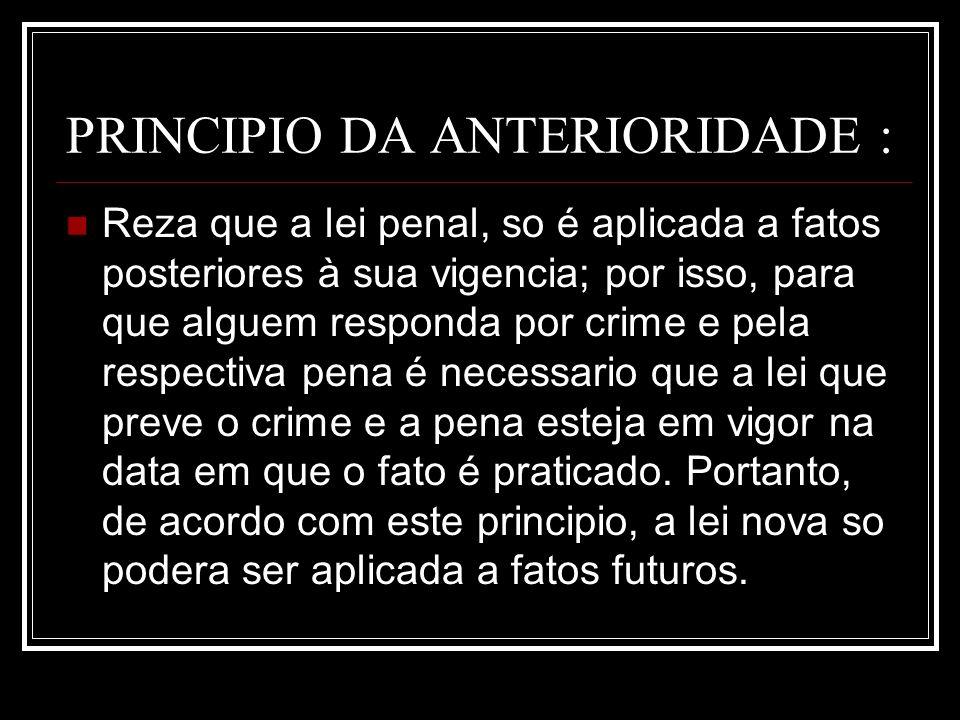PRINCIPIO DA ANTERIORIDADE :