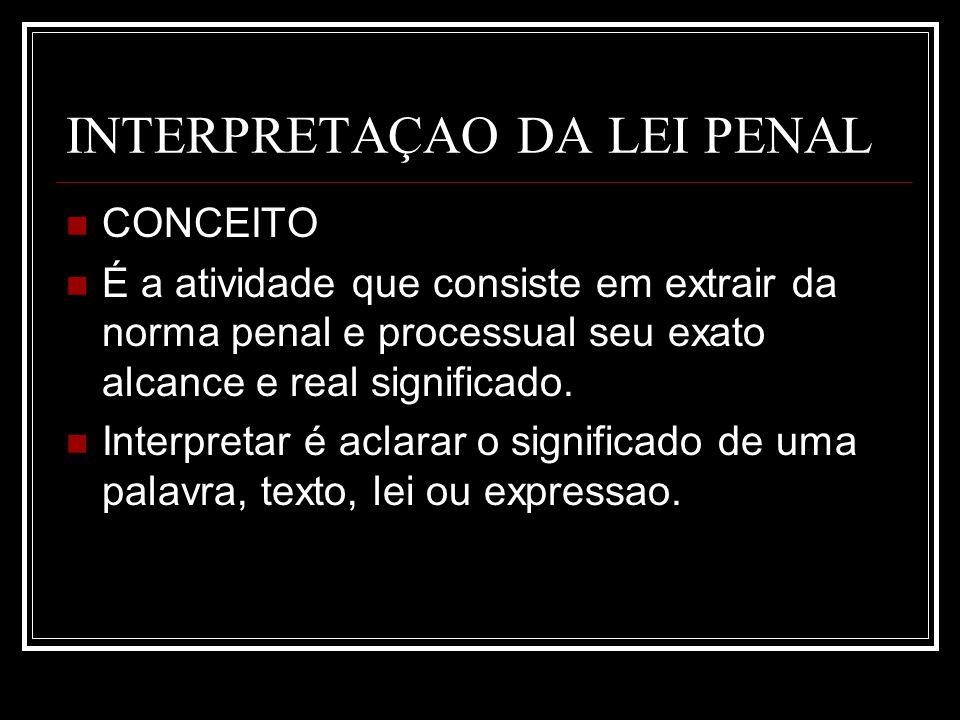 INTERPRETAÇAO DA LEI PENAL