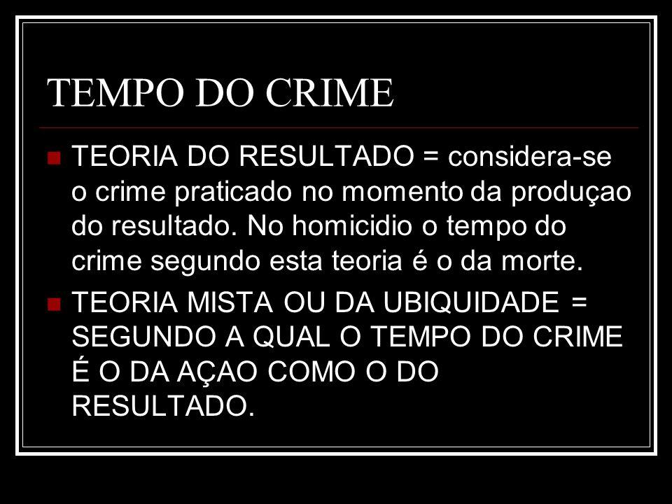 TEMPO DO CRIME