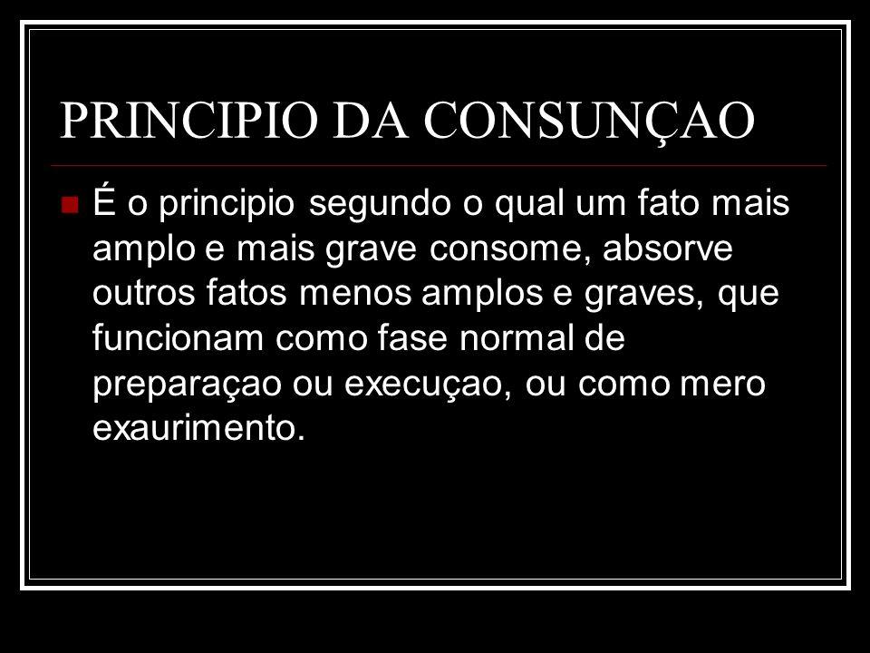 PRINCIPIO DA CONSUNÇAO