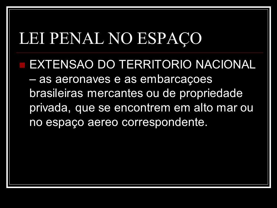 LEI PENAL NO ESPAÇO