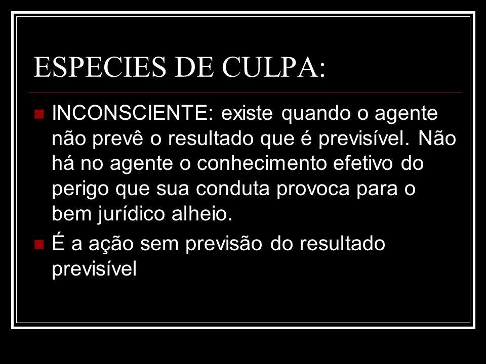 ESPECIES DE CULPA: