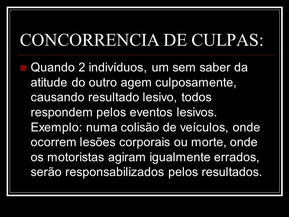 CONCORRENCIA DE CULPAS: