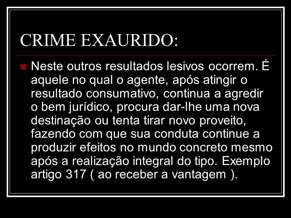 CRIME EXAURIDO: