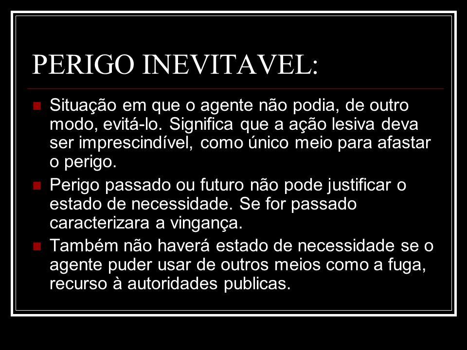 PERIGO INEVITAVEL: