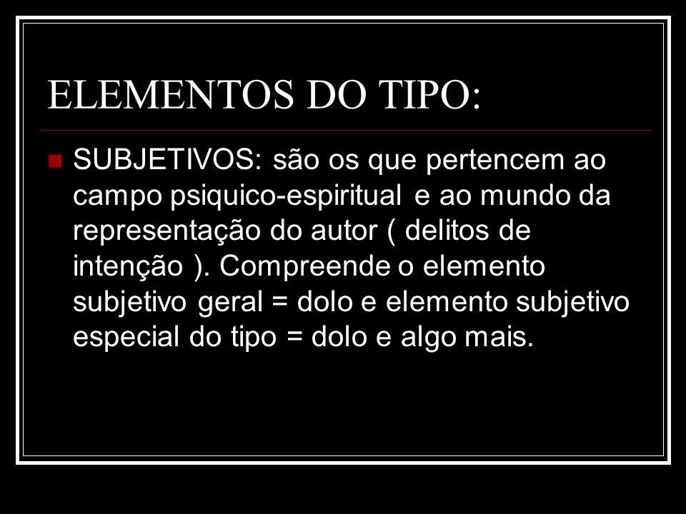 ELEMENTOS DO TIPO: