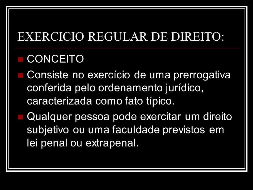 EXERCICIO REGULAR DE DIREITO: