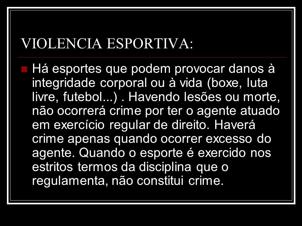 VIOLENCIA ESPORTIVA: