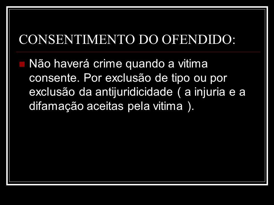 CONSENTIMENTO DO OFENDIDO: