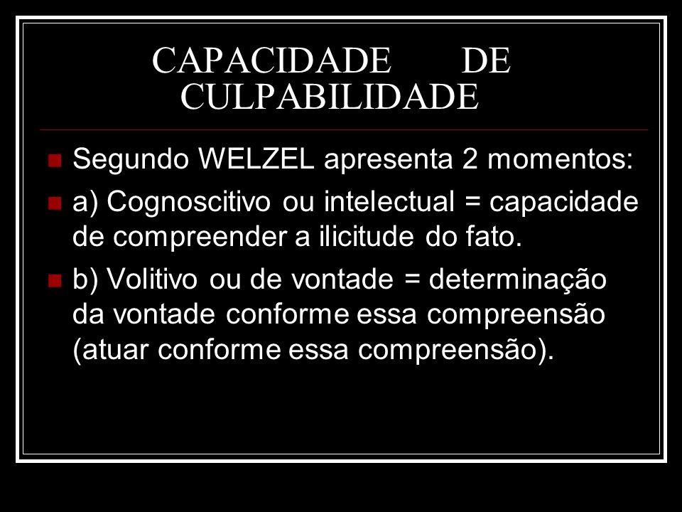 CAPACIDADE DE CULPABILIDADE