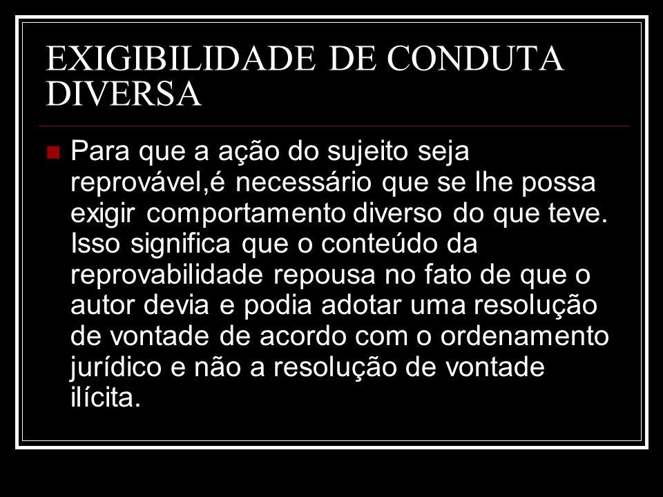 EXIGIBILIDADE DE CONDUTA DIVERSA