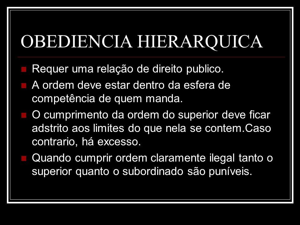 OBEDIENCIA HIERARQUICA