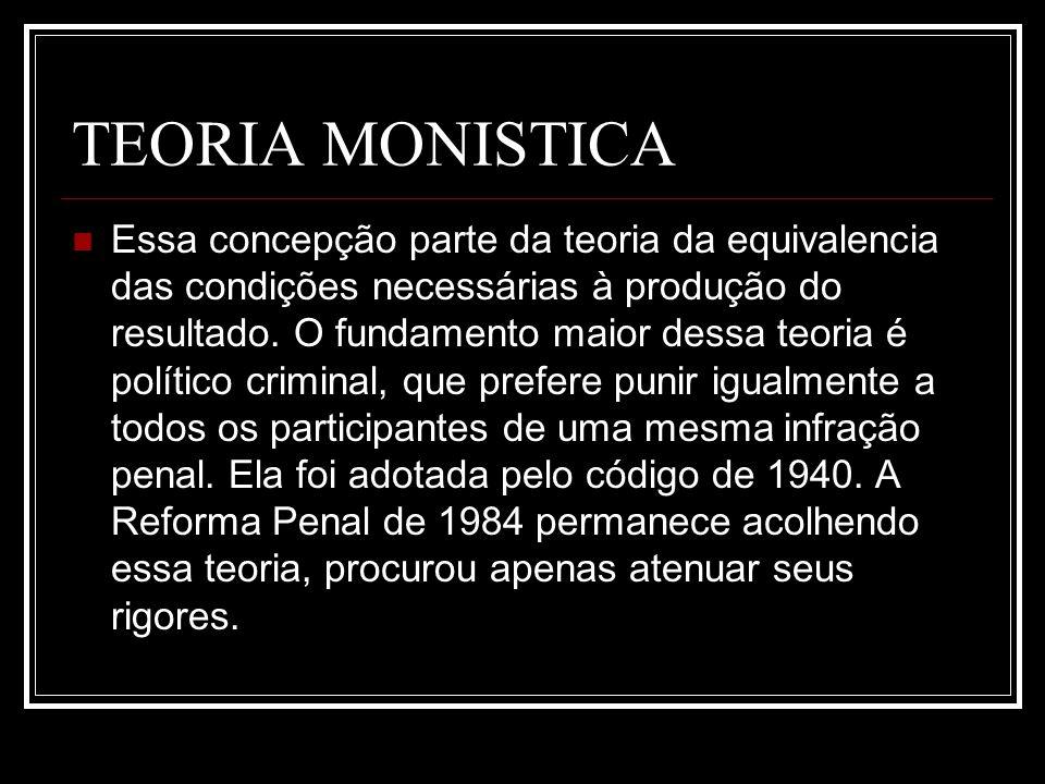 TEORIA MONISTICA