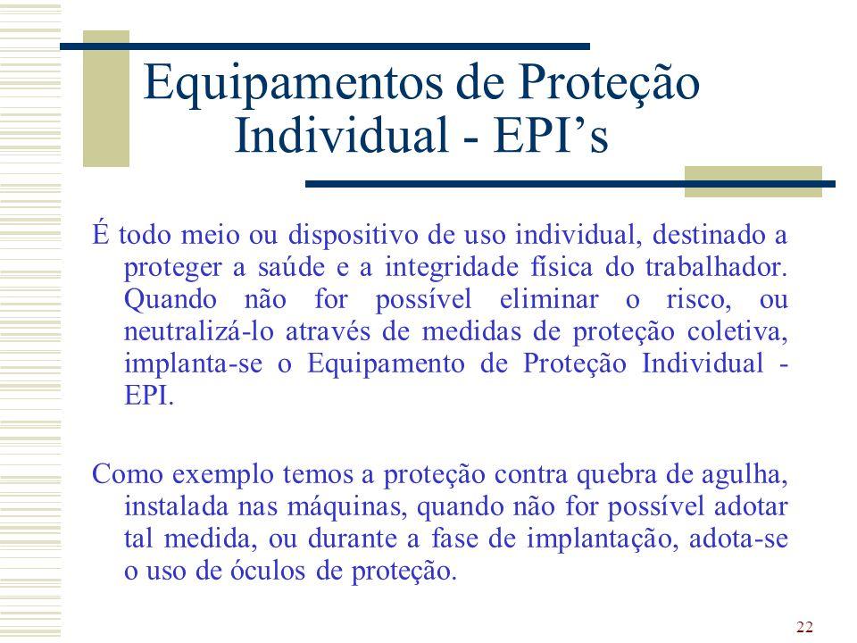 22 Equipamentos de Proteção Individual ... 0aea0c8b31
