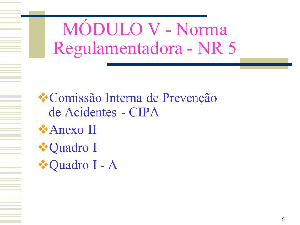 MÓDULO V - Norma Regulamentadora - NR 5