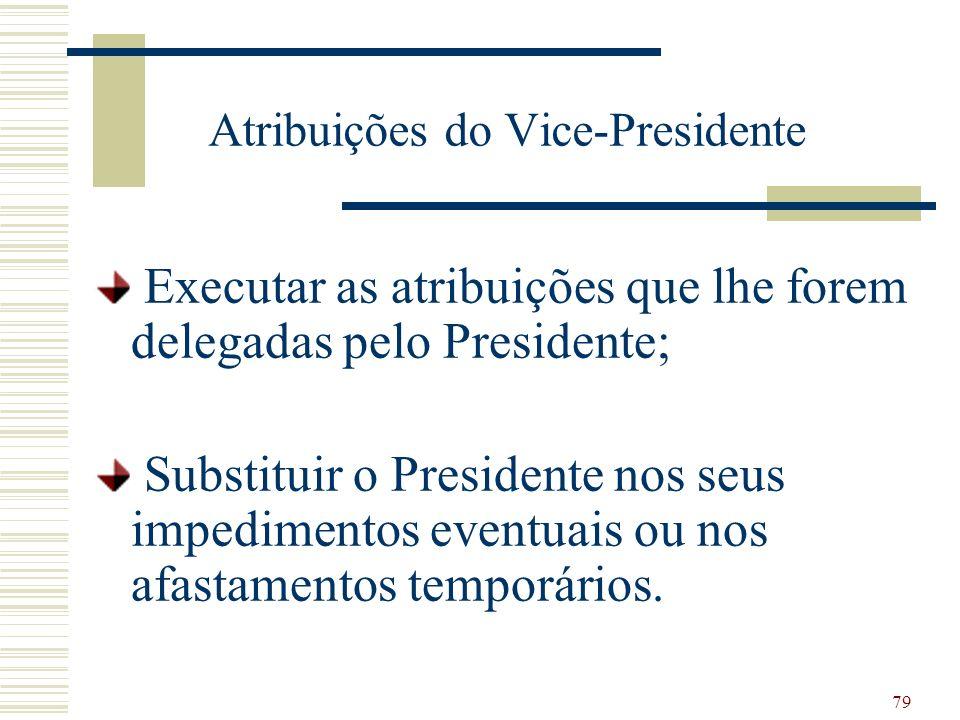 Atribuições do Vice-Presidente