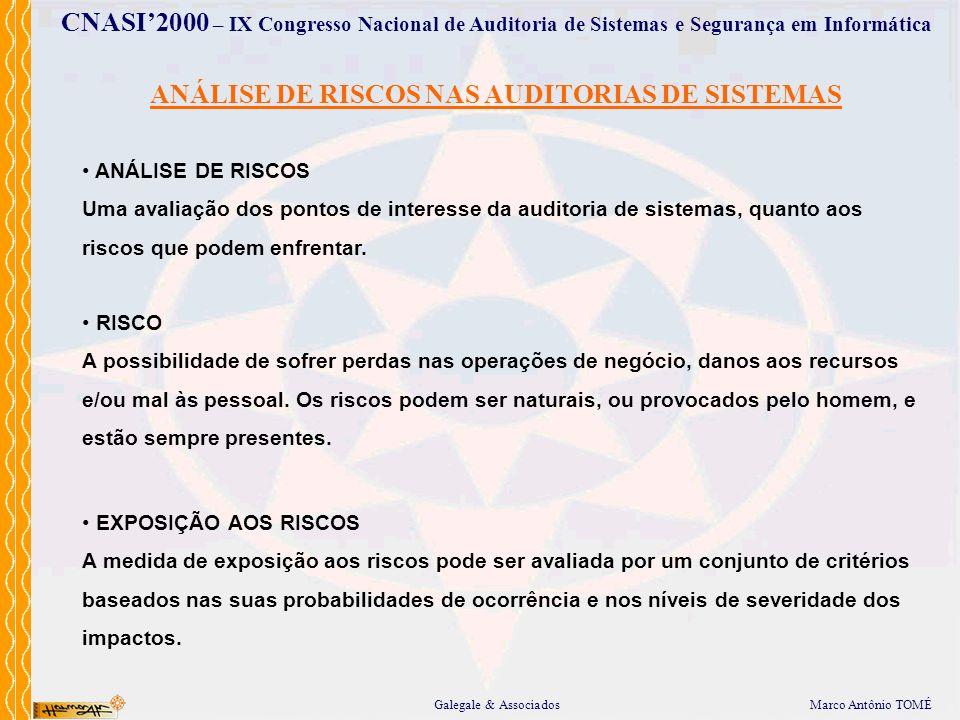 ANÁLISE DE RISCOS NAS AUDITORIAS DE SISTEMAS