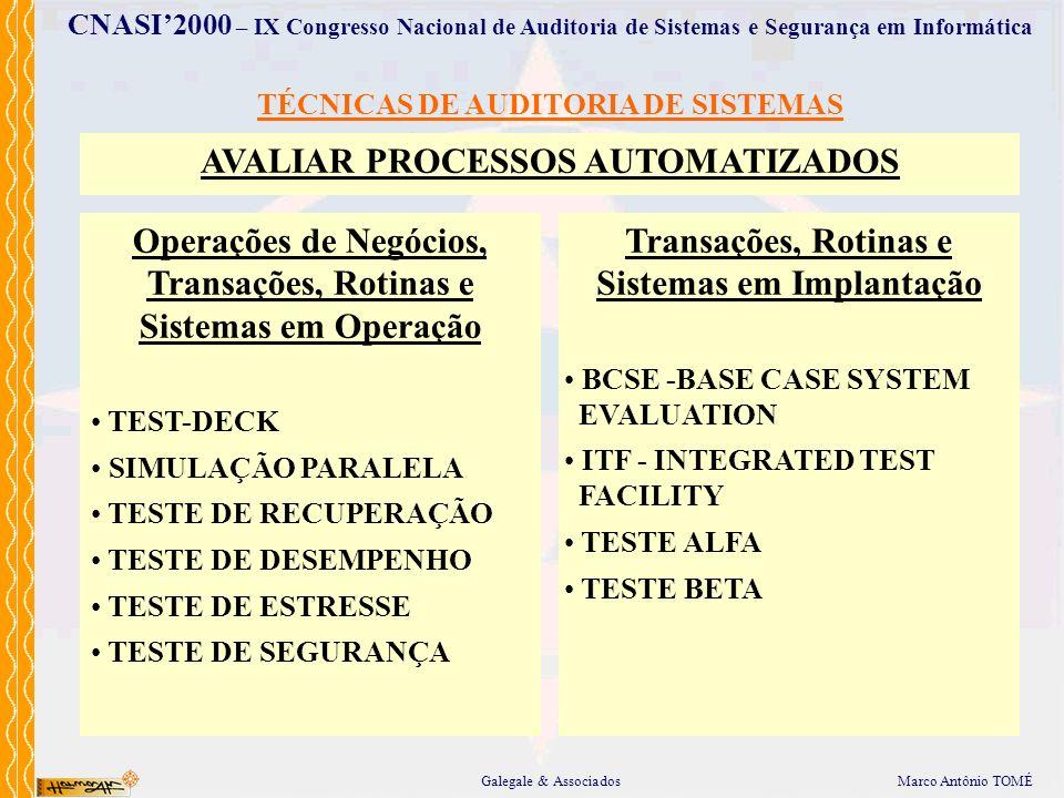 AVALIAR PROCESSOS AUTOMATIZADOS