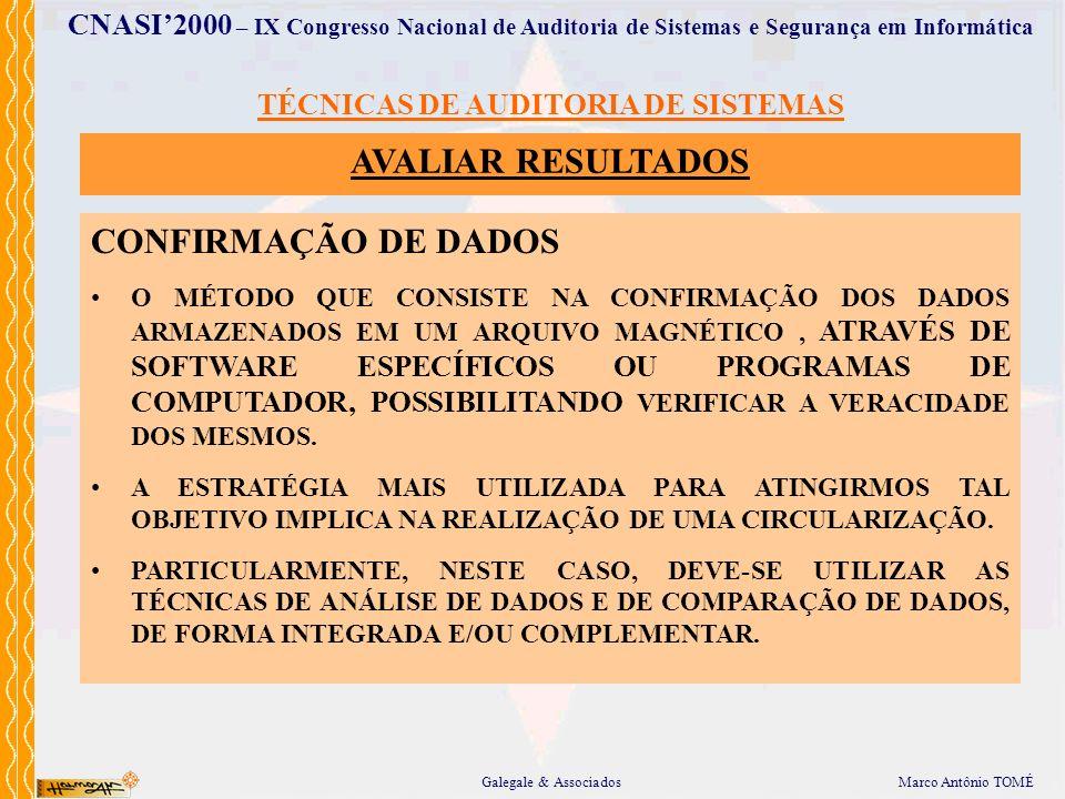TÉCNICAS DE AUDITORIA DE SISTEMAS