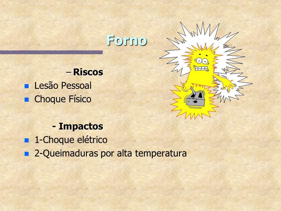 Forno Riscos Lesão Pessoal Choque Físico - Impactos 1-Choque elétrico