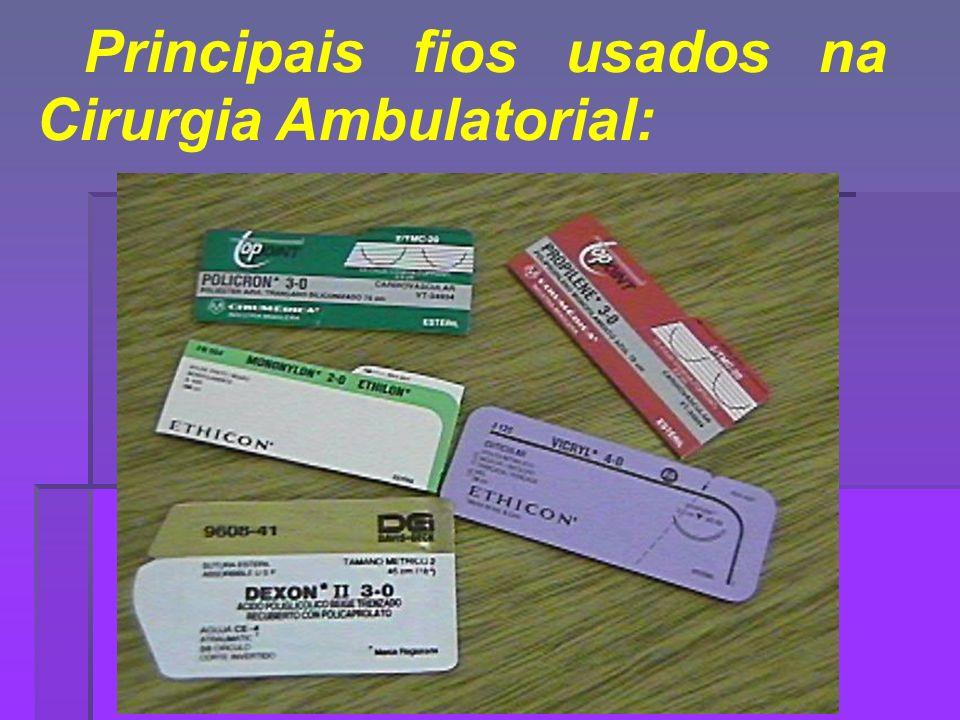 Principais fios usados na Cirurgia Ambulatorial: