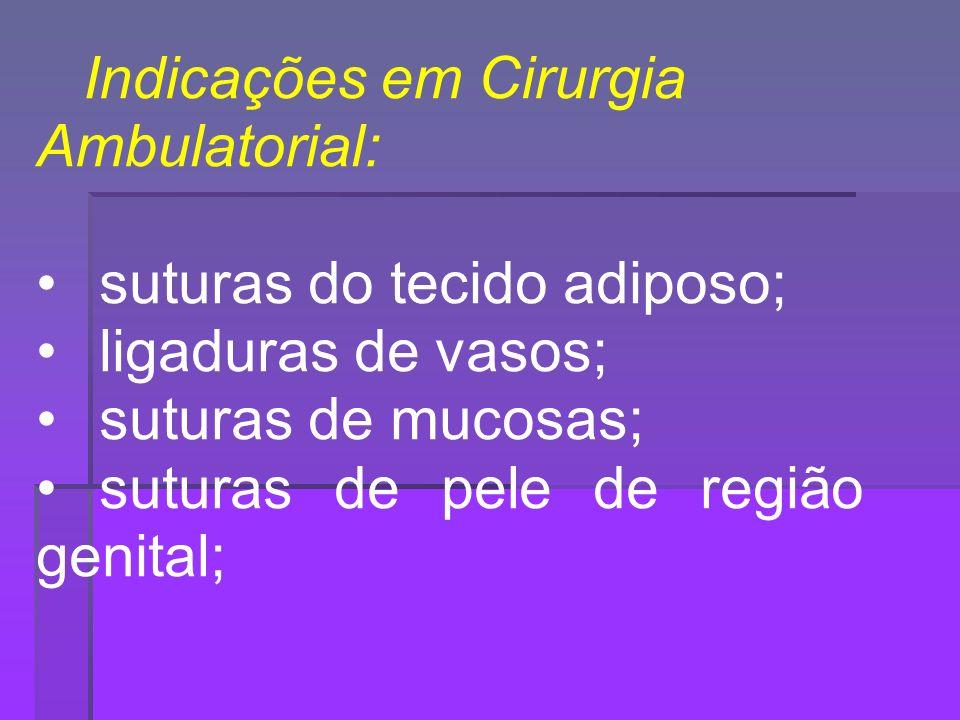 Indicações em Cirurgia Ambulatorial: